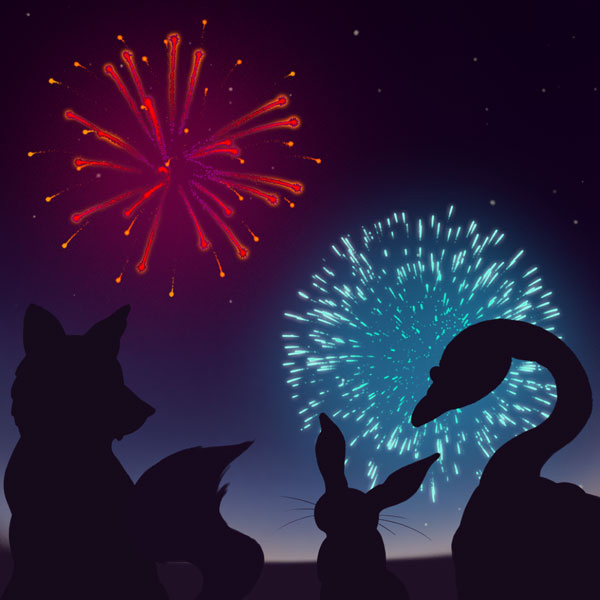 How to Create a Quick Firework Scene in Adobe Photoshop
