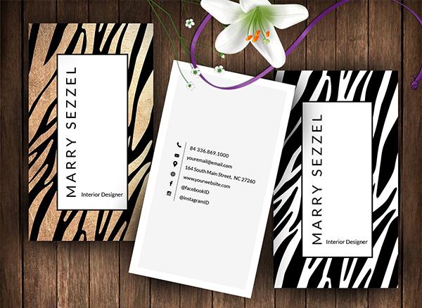 Zebra Style Name Card