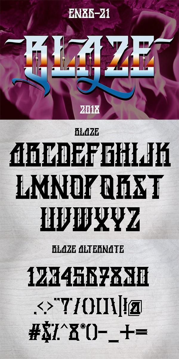 Blaze Blackletter Font