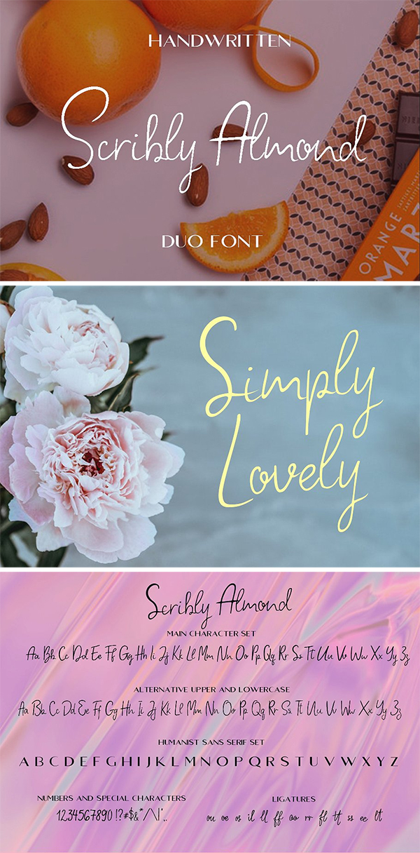 Scribly Almond Font Duo