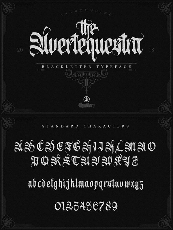 Avertequestra Blackletter Font