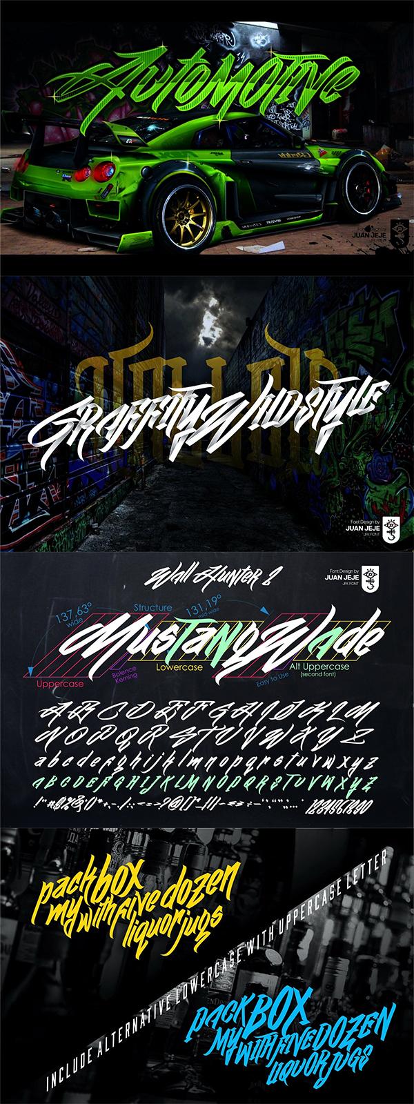 Wall Hunter II | Graffiti Tag Font