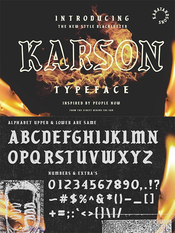 Karson Blackletter Font