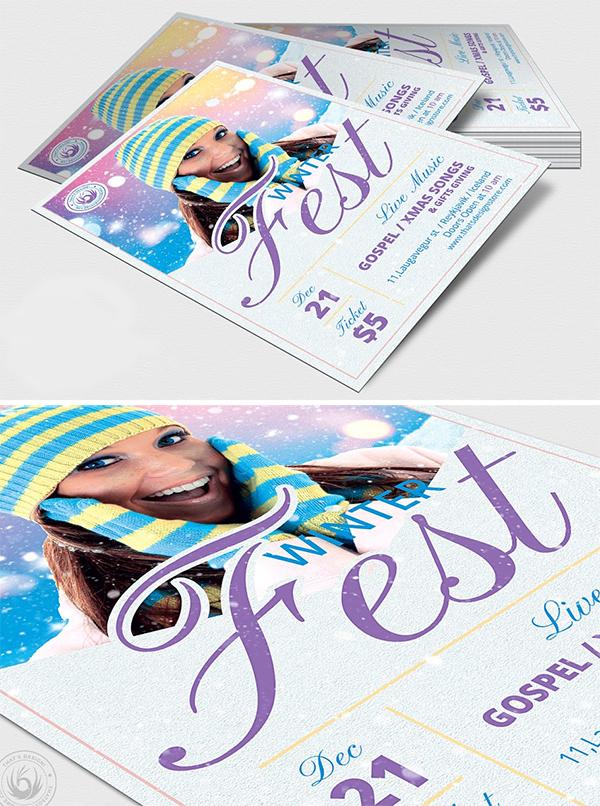 Winter Festival Flyer Template