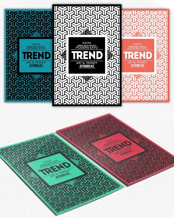 Geometric Trendy Flyer Template