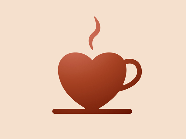 Coffee + Heart Logo Design