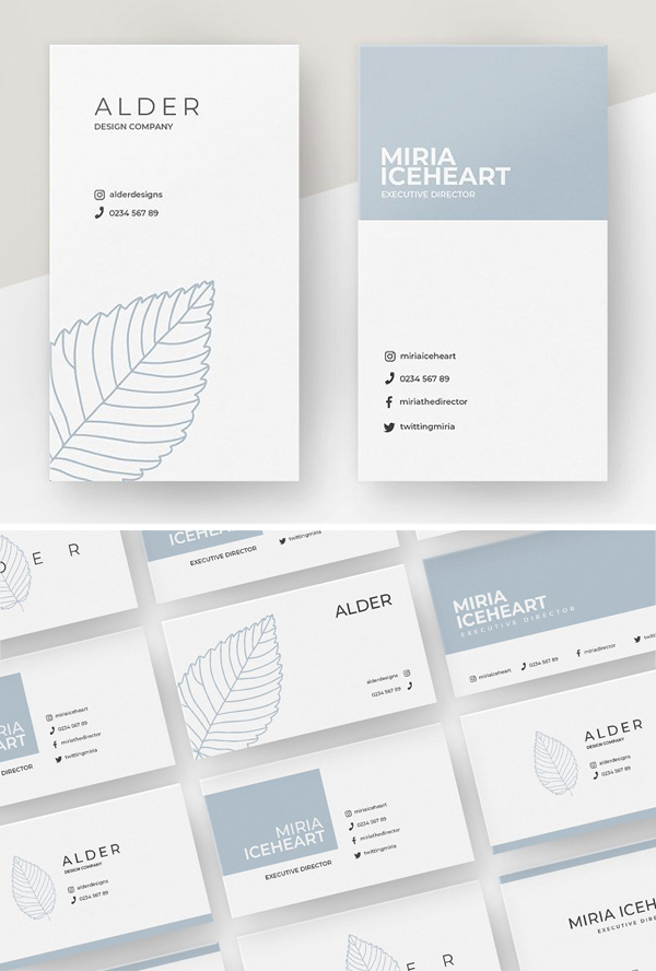 Alder Business Card Template