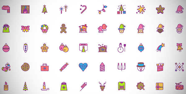 Christmas Icons Set Free Download