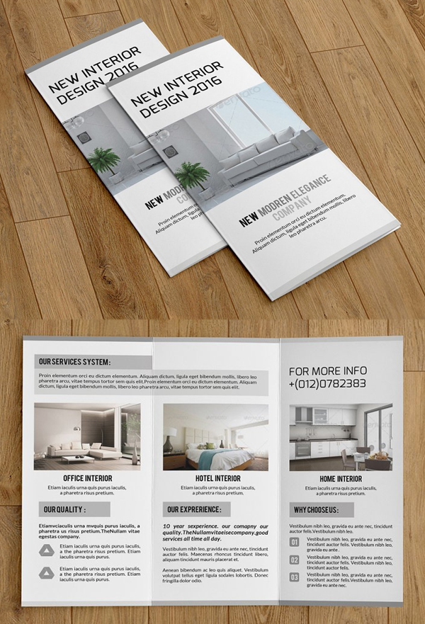 Trifold Interior Brochur