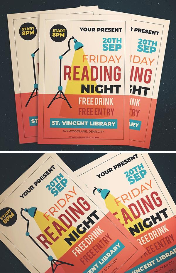 Friday Reading Night Flyer