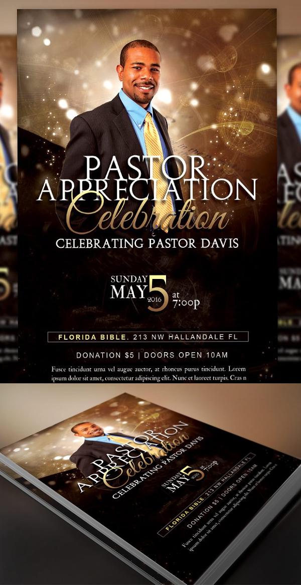 Starlight Pastor Anniversary Flyer
