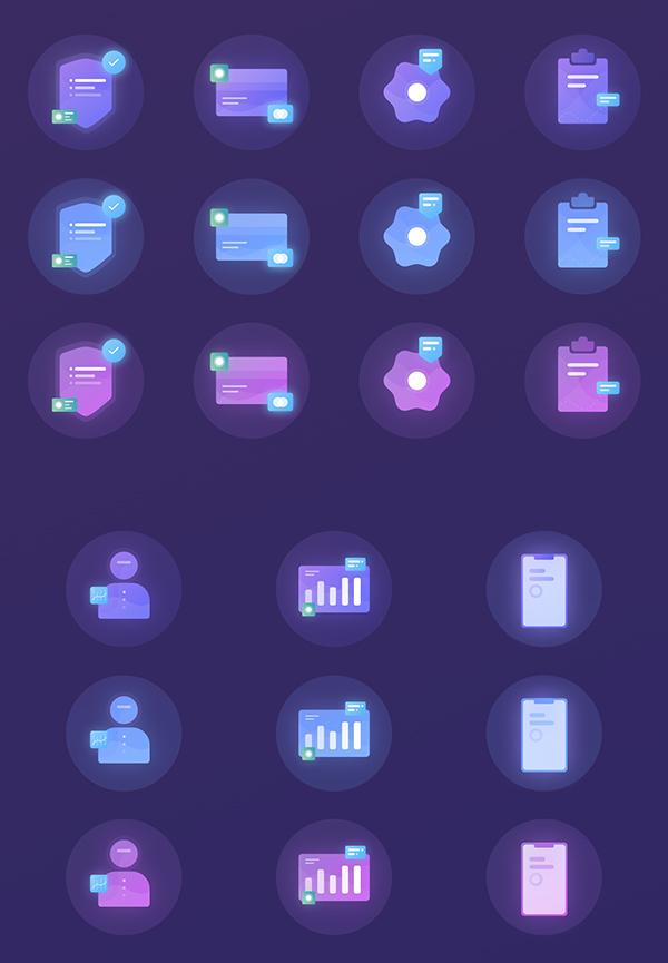 Freebie Gradient Icon Set