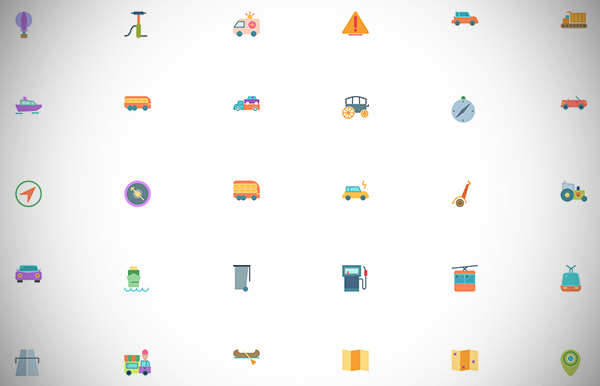Transports Icons Collection