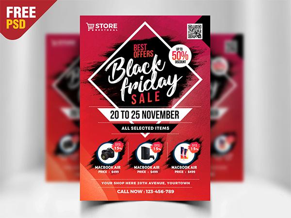 Black Friday Sale Flyer Free Psd