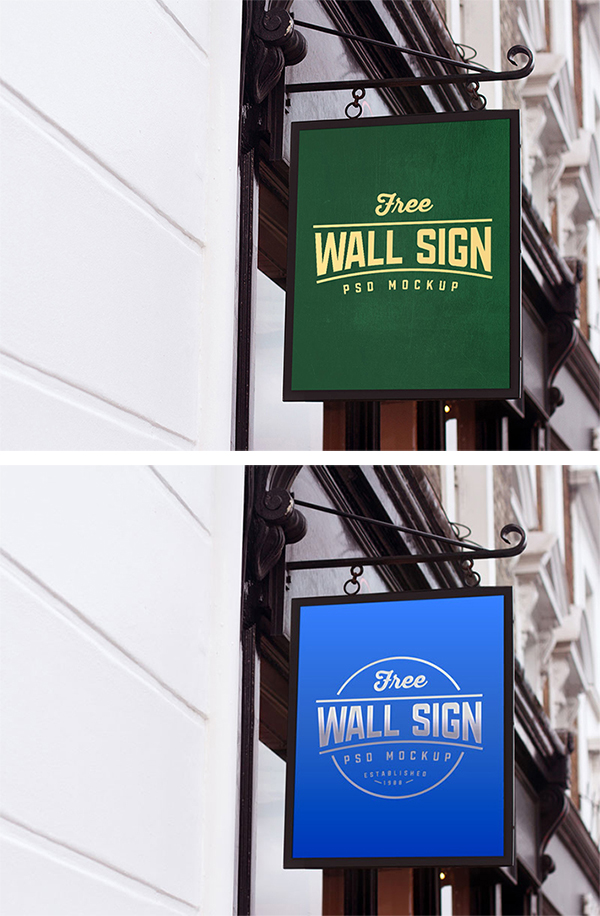 Stylish Shop Sign-Board PSD Mockup Free Download