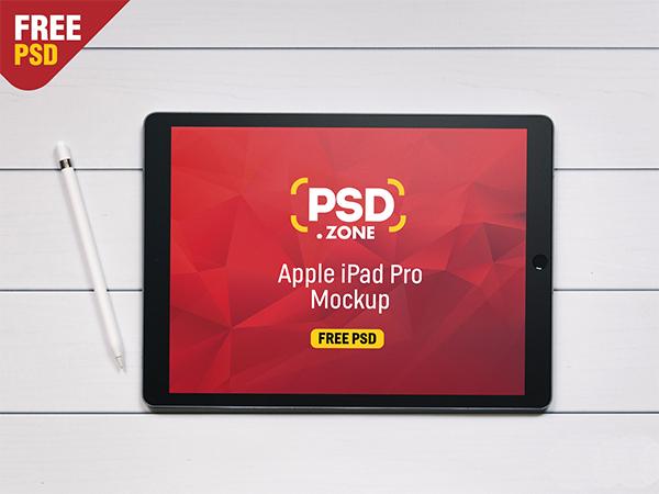 Apple iPad Pro Mockup Free PSD