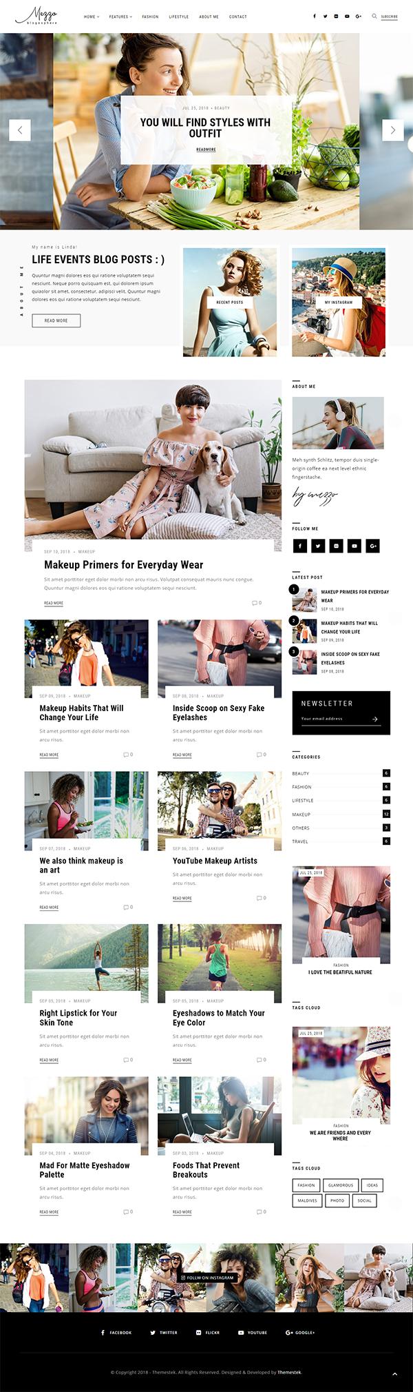 Mezzo | A Personal WordPress Blog Theme
