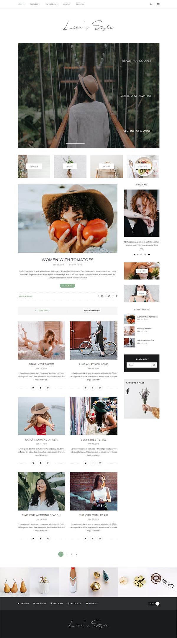 Lika's Style - Personal WordPress Blog Theme