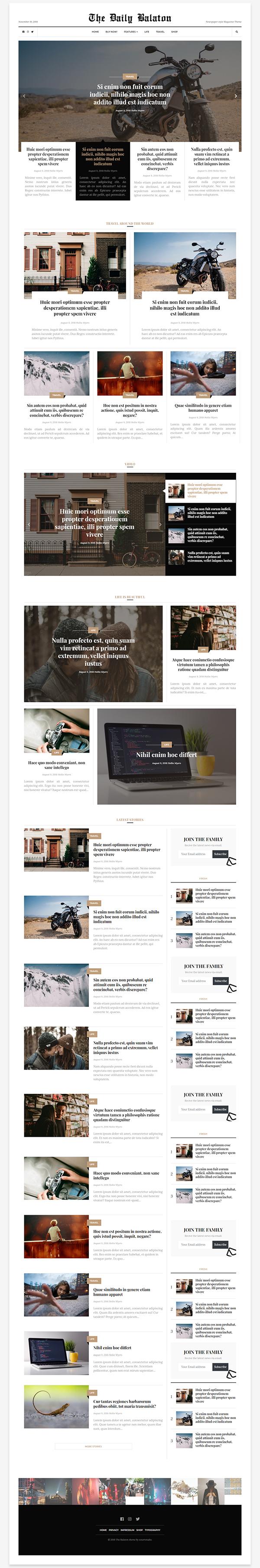 Balaton - Newspaper style Magazine WordPress Theme