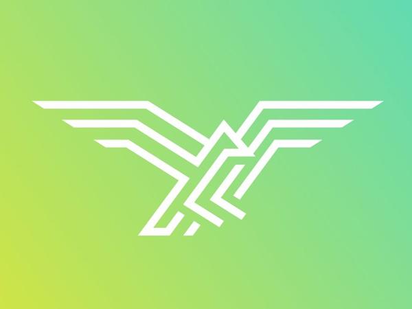 Monoline Eagle Logo