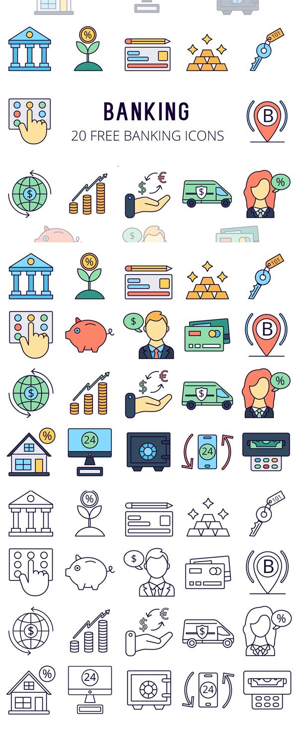 Banking Vector Free Icon Se