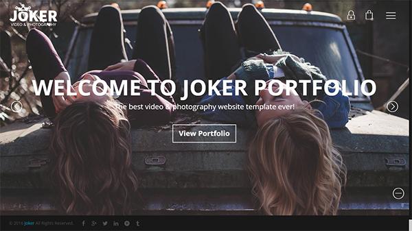 Joker - Photo & Video Portfolio WordPress Theme for Photographers