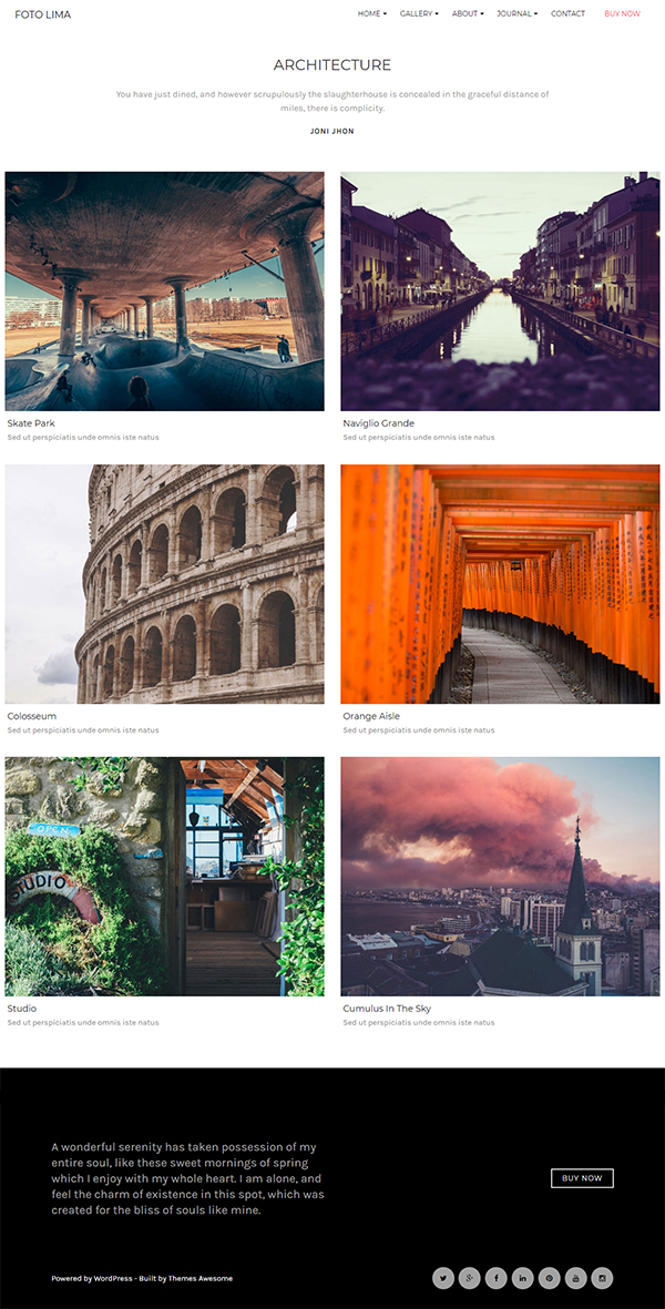 Foto - Photography WordPress Themes for Photographers