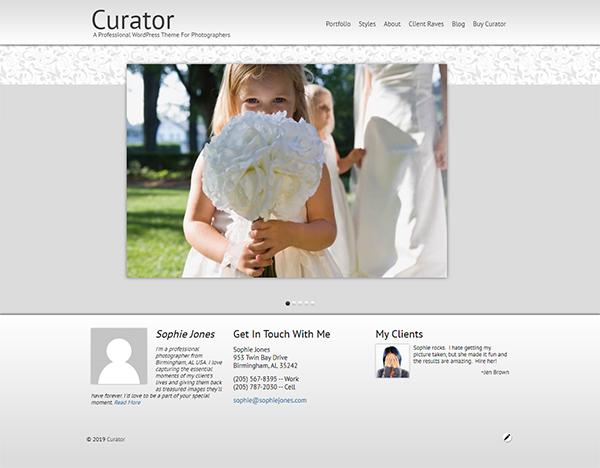 Curator Photography WordPress Theme