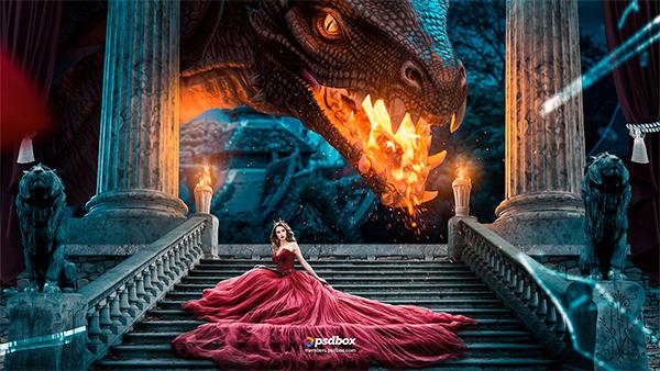 The Last Dragon – Advanced Photoshop Manipulation