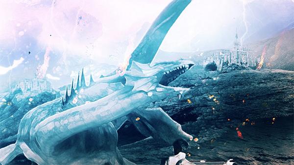 Create Warrior Battling Dragon Photo Manipulation in Photoshop