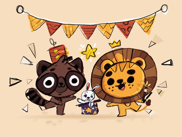 Illustration: Create an Animal Party Scene