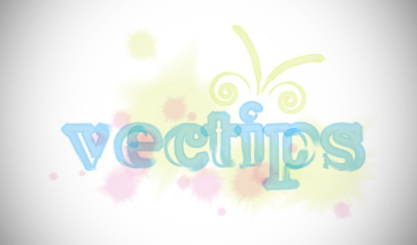 Fresh and Artful Watercolor Text Vector Effect