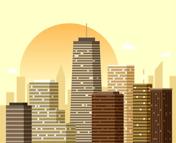 Illustration: Create a City Skyline