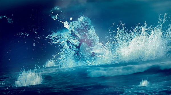 "Make a ""Rock Riding the Wave"" Text Effect in Photoshop"