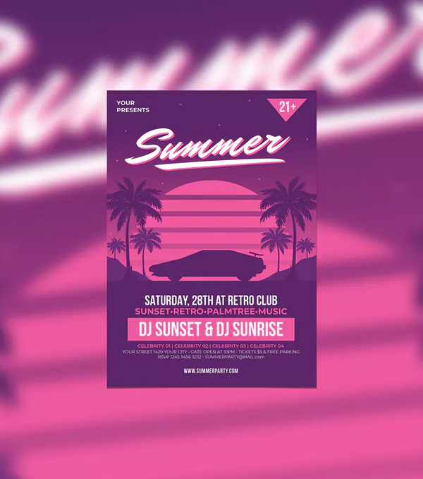 Retro Summer Party Template