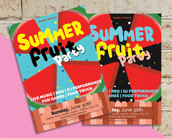 Cool Summer Party Flyer Template