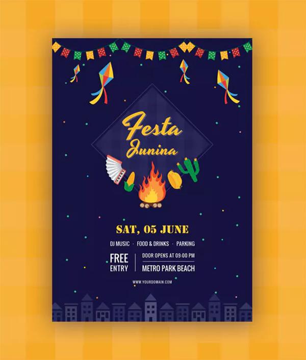 Festa Junina Flyer Template