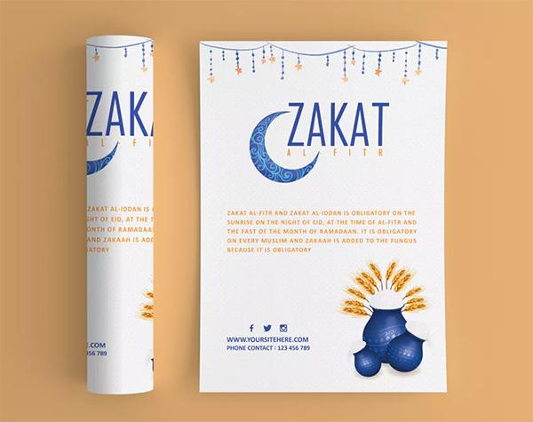 Zakat Al-Fitr Flyer Template