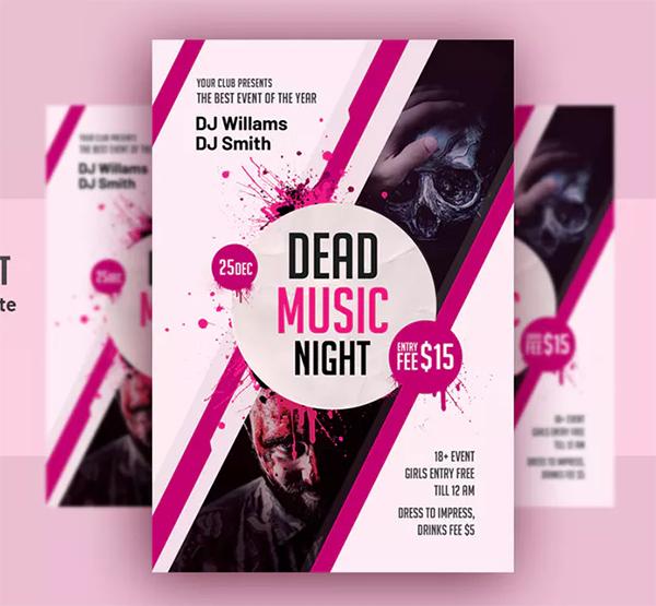 Dead Music Flyer - Horror Party Flyer Template