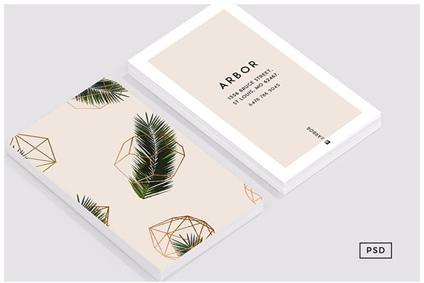 Palm + Geometry Business Card