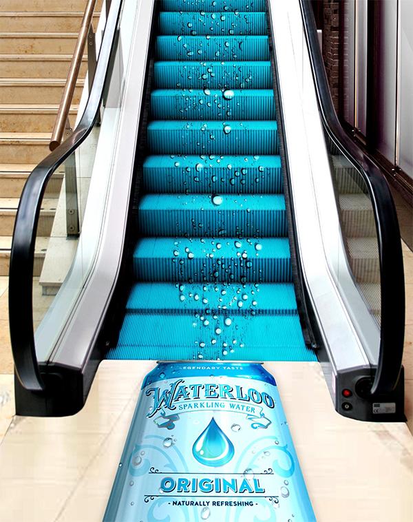 Waterloo Bubble Escalator