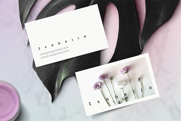 Isabella - Floral Business Card