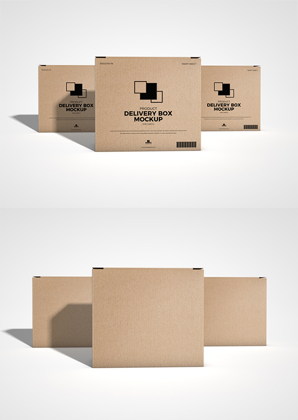Free Download Product Packing Box Mockup (PSD)