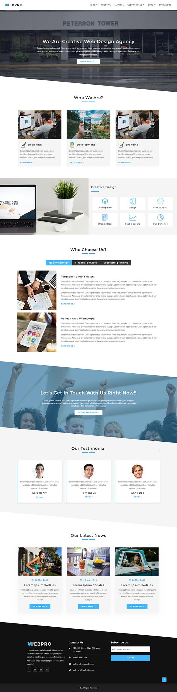 WebPro - Corporate WordPress Theme