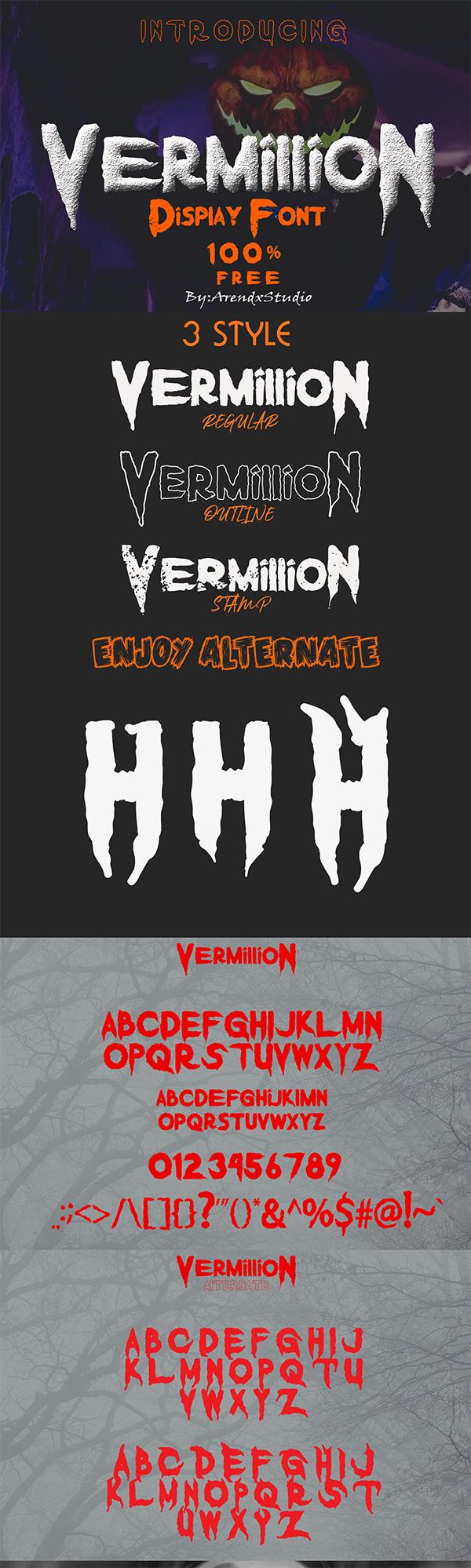 Vermillion Display Free Font