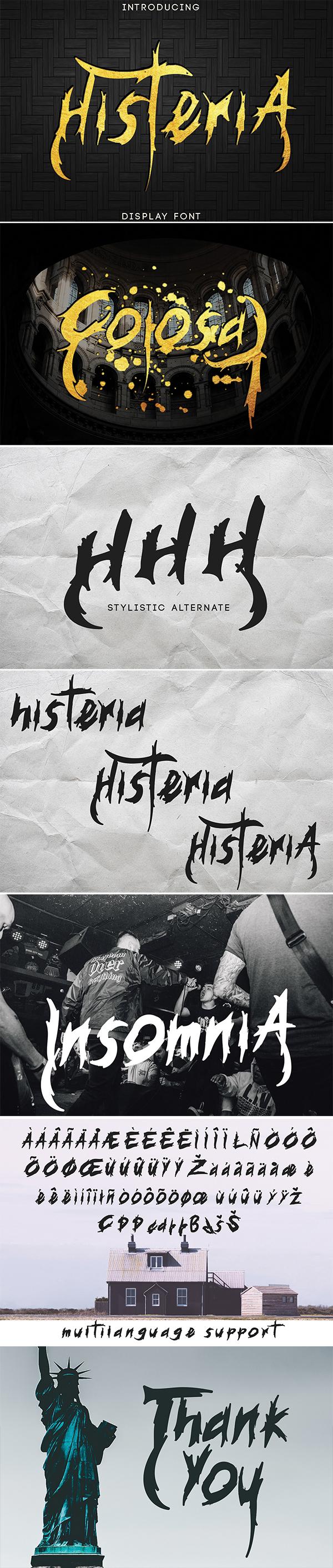 Histeria Display Free Font
