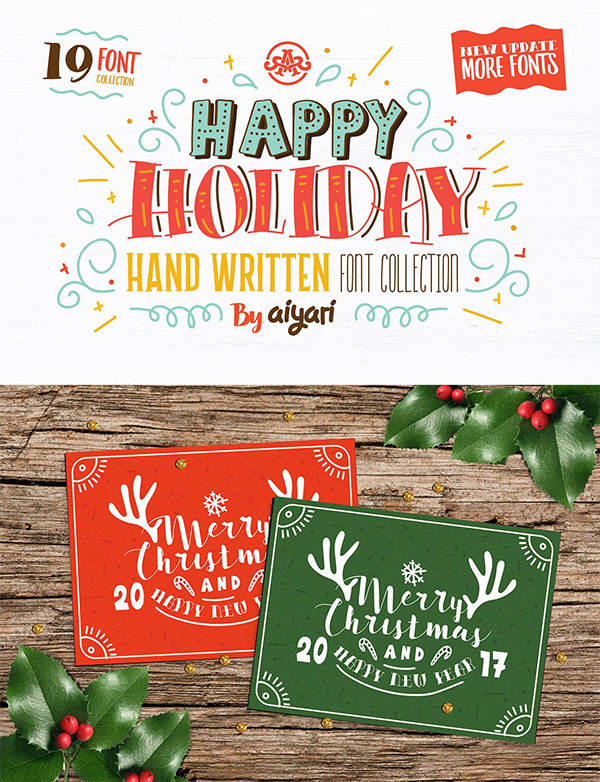 Happy Holiday Hand Written Font
