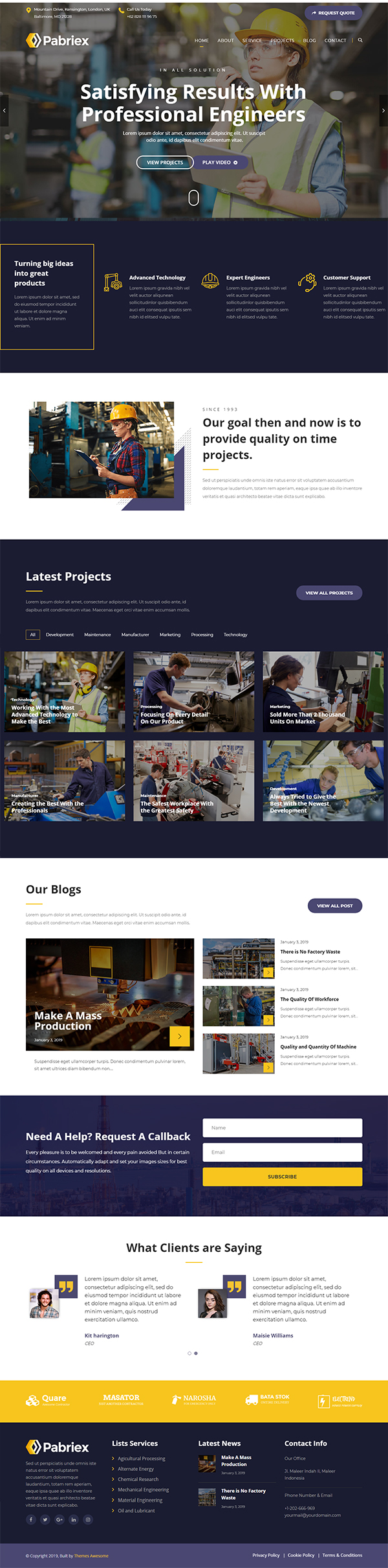 Pabriex - Factory & Industrial Theme