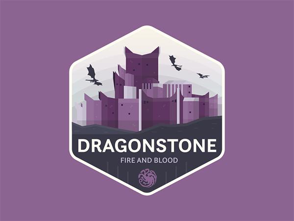 Dragonstone Badge Logo Design