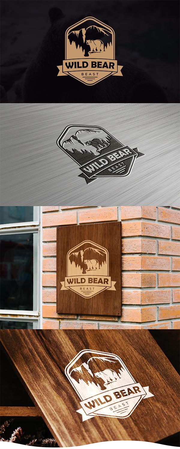 Wild Bear Logo design